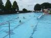 Stunden Schwimmen Freiluft